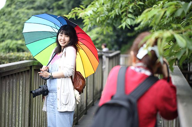 江ノ島で撮影