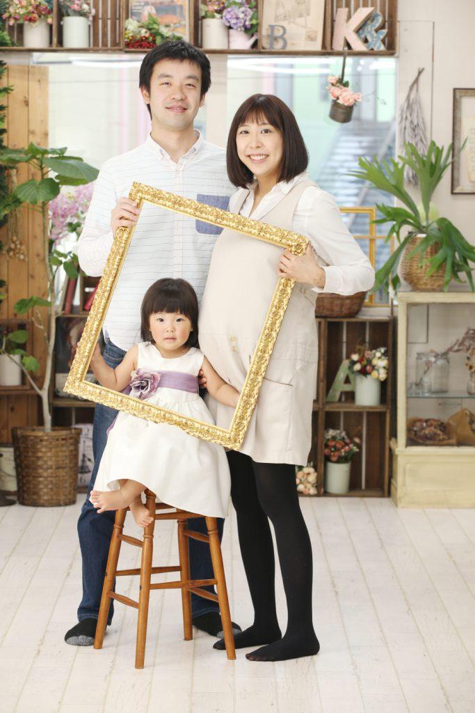 マタニティで家族写真